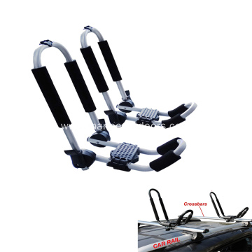 J Style Foldable Aluminum Kayak Carrier Holder Car Roof Rack